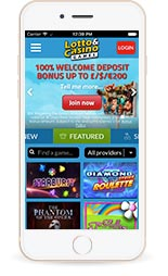 mobile casino homepage